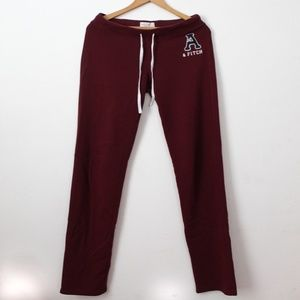 Abercrombie and Fitch Burgundy Lounge Pants